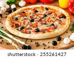 supreme pizza | Shutterstock . vector #255261427