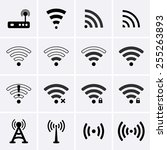 wireless and wifi icons. vector | Shutterstock .eps vector #255263893