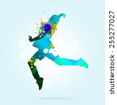 image with color silhouette of