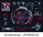 sci fi futuristic user... | Shutterstock .eps vector #255305113
