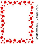 Red Hearts Border For...