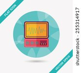 monitor in the icu flat icon... | Shutterstock .eps vector #255314917