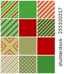 red and green stripes christmas ... | Shutterstock .eps vector #255320317