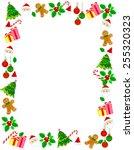 colorful christmas frame  ... | Shutterstock .eps vector #255320323