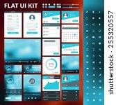 set of flat design ui elements... | Shutterstock .eps vector #255320557