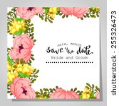 wedding invitation cards with... | Shutterstock . vector #255326473