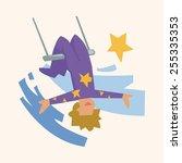 circus theme trapeze artist...   Shutterstock .eps vector #255335353