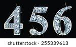 diamond numbers set 4 5 6.... | Shutterstock .eps vector #255339613