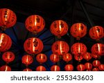 chinese traditional red light... | Shutterstock . vector #255343603