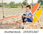 sweet toddler dressed as a... | Shutterstock . vector #255351367