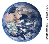Earth Globe Isolated On White...
