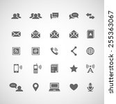 set of 25 communication icons.... | Shutterstock .eps vector #255363067