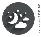 moon  clouds and stars icon....