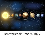 a diagram of the planets in our ... | Shutterstock .eps vector #255404827