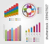 set colorful business chart for ... | Shutterstock .eps vector #255427027