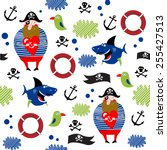 vector pirate background | Shutterstock .eps vector #255427513
