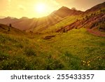 Beautiful Mountain Landscape A...