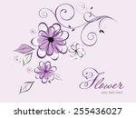 romantic floral vintage design. ... | Shutterstock .eps vector #255436027
