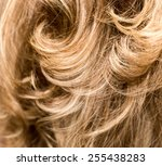 curly hair. hairdressing. wave .... | Shutterstock . vector #255438283