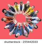 people unity community... | Shutterstock . vector #255442033