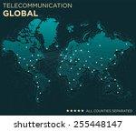 map of global... | Shutterstock .eps vector #255448147