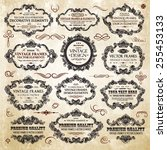 vector vintage collection ... | Shutterstock .eps vector #255453133