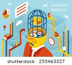 creative process. thought and... | Shutterstock .eps vector #255463327