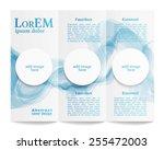 tri fold brochure template   Shutterstock .eps vector #255472003