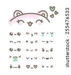 Set Kawaii Emoticons