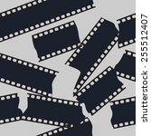 seamless cut filmstip  vector... | Shutterstock .eps vector #255512407