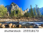 bridal fall and river at... | Shutterstock . vector #255518173
