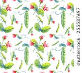 A Seamless Peas Pattern On...