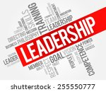 leadership word cloud  business ... | Shutterstock .eps vector #255550777