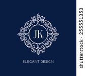simple and elegant monogram... | Shutterstock .eps vector #255551353
