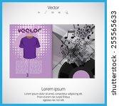 open magazine  vector... | Shutterstock .eps vector #255565633