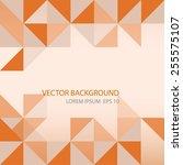 vector background.  orange... | Shutterstock .eps vector #255575107