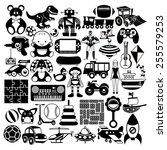 vector set of different black...