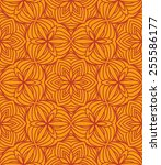 beautiful orange white floral... | Shutterstock .eps vector #255586177
