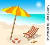 vector illustration seashore... | Shutterstock .eps vector #255602047