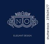 simple and elegant monogram...   Shutterstock .eps vector #255634177