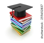 mortar board and books  ...   Shutterstock . vector #255652837