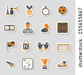 soccer and football icon... | Shutterstock .eps vector #255655867