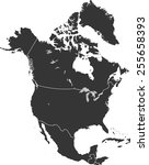 detailed vector map of the... | Shutterstock .eps vector #255658393