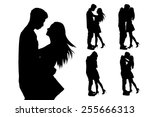 silhouette of two lovers....