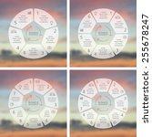 circle line infographics set.... | Shutterstock .eps vector #255678247