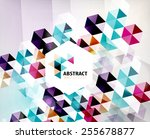 geometric abstract polygonal... | Shutterstock .eps vector #255678877