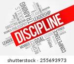 discipline word cloud  business ... | Shutterstock .eps vector #255693973