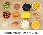 various food products... | Shutterstock . vector #255712807