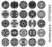 Vector Set Ethnic Circle...