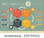 web template for circle diagram ... | Shutterstock .eps vector #255755413